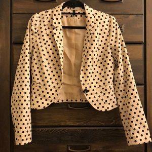 Polka dot cropped blazer by H&M